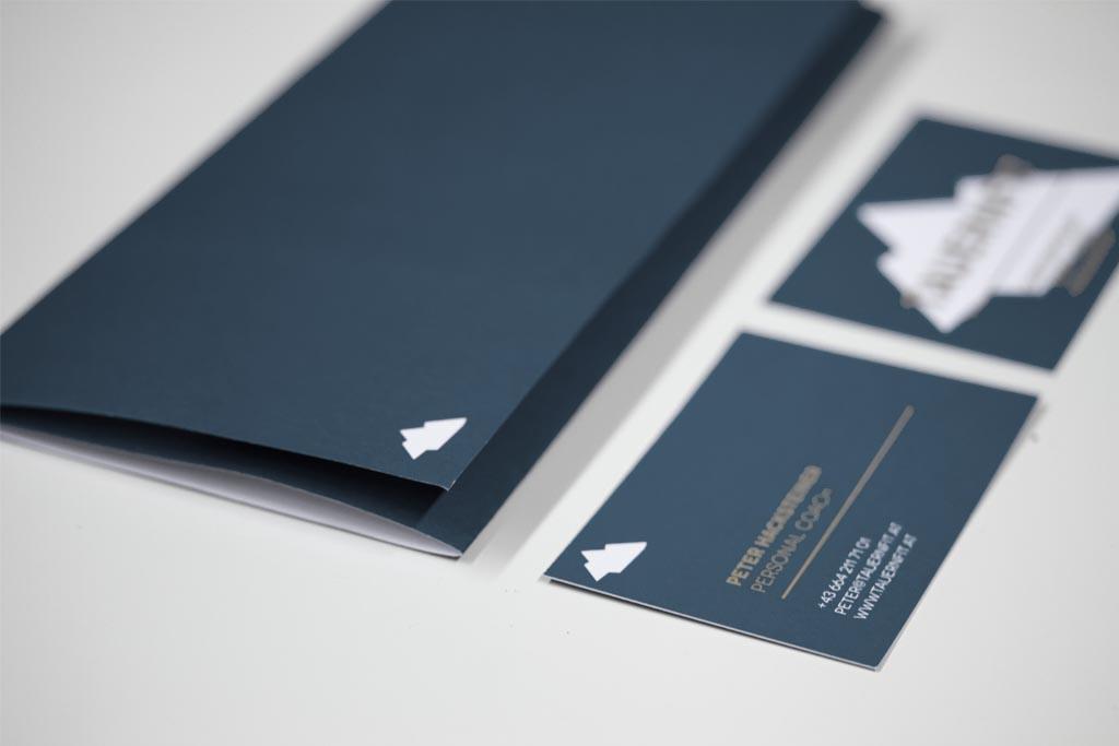 Tauernfit Briefpapier und Visitkarten